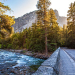 Yosemite Bridge on Sunset