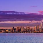 Landscape Photography - Seattle Skyline Sunset - Seattle, Washington, USA